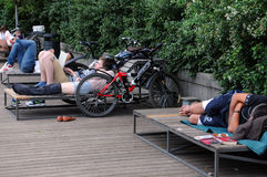Siesta in Moscow Stock Photography