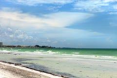 Siestatangentstrand i Sarasota Florida Royaltyfri Bild