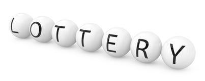 Siete bolas de la lotería Imagen de archivo libre de regalías
