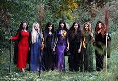 Siete brujas hermosas Imagen de archivo libre de regalías
