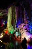 Siete cuevas en China Guilin Foto de archivo