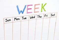 Siete días de la semana foto de archivo