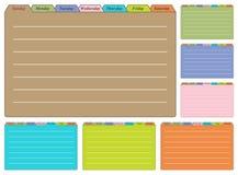Siete hojas del calendario Foto de archivo libre de regalías
