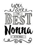 Siete il migliore Nonna nel mondo Fotografie Stock
