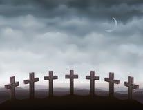 Siete lápidas mortuarias Fotos de archivo libres de regalías