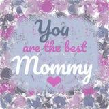 Siete la migliore cartolina d'auguri della mamma royalty illustrazione gratis