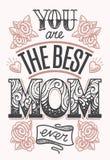 Siete la migliore mamma che segna mai illustrazione di stock