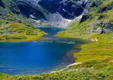 Siete lagos del rila cierran el viaje popular de la atracción gemela Imagen de archivo libre de regalías