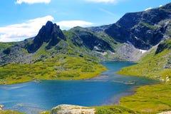 Siete lagos del rila cierran la atracción gemela Foto de archivo libre de regalías