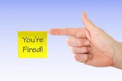 Siete licenziato! Fotografie Stock Libere da Diritti