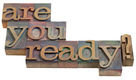 Siete pronto? fotografie stock