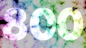Siete puntos de los centenares de los centenares noventa y nueve a ocho, nivel, fila se descoloran la animación de in/out con el  ilustración del vector