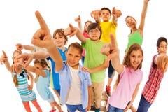 Siete quello Dito del punto di molti bambini Fotografia Stock Libera da Diritti