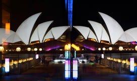 Siete qui Selfie con Sydney Opera House Immagini Stock
