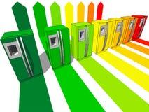 Siete refrigeradores Fotografía de archivo libre de regalías