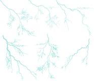 Siete relámpagos azules ilustración del vector