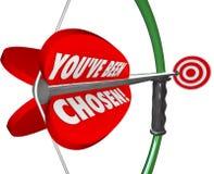 Siete stato freccia scelta dell'arco che punta sull'obiettivo di selezione Immagini Stock Libere da Diritti