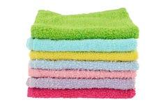 Siete toallitas para la cara Imagenes de archivo