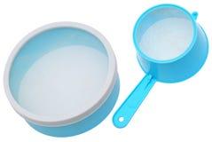 Sieve. Kitchen ware, sieve on a white background Stock Photos