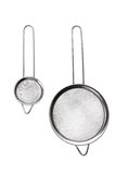 Sieve for bulk. Metal sieve for bulk, cooking utensils isolated on white Royalty Free Stock Image