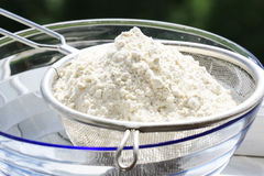 Sieve flour Stock Photo