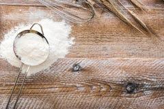 Sieve with flour Stock Image
