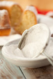 Sieve with powdered sugar Stock Photo