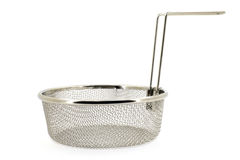 Sieve on a white background stock photography