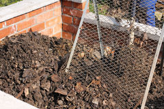 Sieving the composted earth Royalty Free Stock Photography