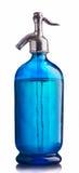 Sifón azul de la vendimia del agua fotos de archivo