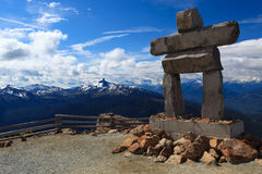 Siffleur Inukshuk Photo stock