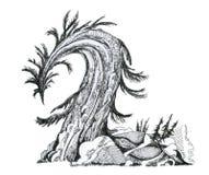 siffra 2 Stilsortsskog som är trä, symbol Arkivbild