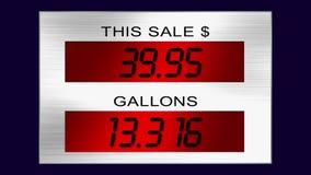 Siffror för gaspump stock video