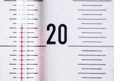 Siffror från termometern Arkivbilder