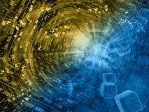 Siffror och kuber i tunnelen arkivfoton