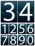 siffror som bläddrar seten Arkivbild