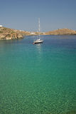 Sifnos-Cyglades-Greece. Apokoftou bay with calm waters ideal for yachts Stock Images