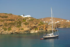 Sifnos-Cyglades-Greece. Bay with calm waters ideal for yachts Stock Photo