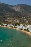 Sifnos-Cyglades-Greece. Beautiful and picturesque beach in platis gialos Royalty Free Stock Images