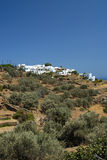 Sifnos. Built on three hills, Apollonia, with whitewashed houses Stock Images