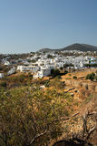 Sifnos. Built on three hills, Apollonia, with whitewashed houses Royalty Free Stock Photo