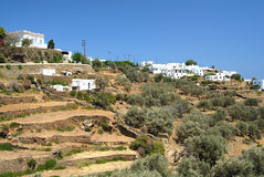 Sifnos. Built on three hills, Apollonia, with whitewashed houses Stock Image