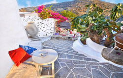 Sifnos castle Cyclades Greece. Castle at Sifnos island Cyclades Greece Royalty Free Stock Photo