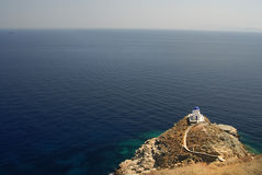 Sifnos-Cyglades-Greece. The church of epta martires Castle Sifnos Royalty Free Stock Photos