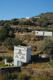 Sifnos. Dovecote in slope of a hill Stock Image