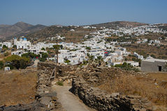 Sifnos. Good shape path leads to Apollonia Royalty Free Stock Photo
