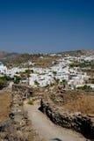 Sifnos. Good shape path leads to Apollonia Stock Photos