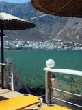 Sifnos, Grecja portu Kamares na grków Cyclades wyspie wewnątrz miasteczko Zdjęcie Stock
