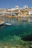 Sifnos Greece. The small picturesque harbor Herronissos Stock Photo