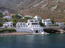 Sifnos island, Greece. View of buildings near the sea, at Sifnos island, in Greece Royalty Free Stock Photography